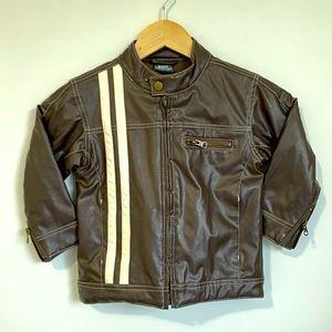 Shock Resistant boys faux leather jacket coat Sz 3